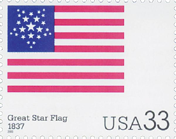 2000 33c The Stars and Stripes: Great Star Flag