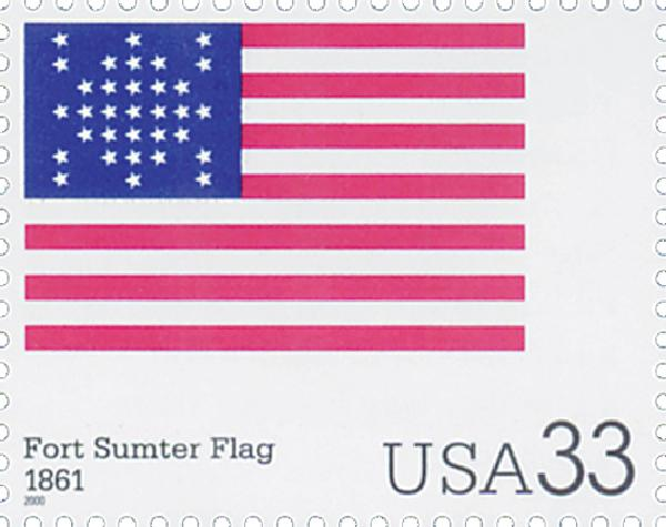 2000 33c The Stars and Stripes: Fort Sumter Flag