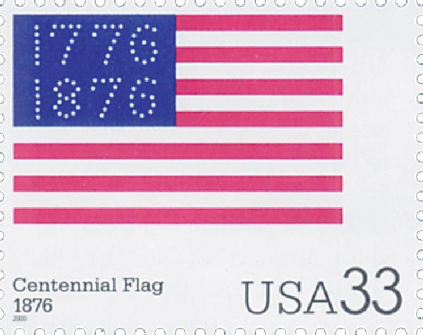 2000 33c The Stars and Stripes: Centennial Flag