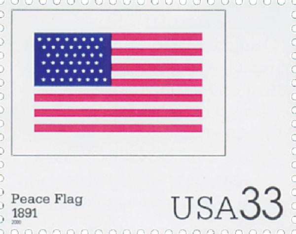 2000 33c The Stars and Stripes: Peace Flag