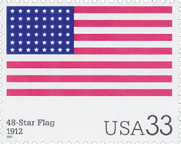 2000 33c The Stars and Stripes: 48-Star Flag