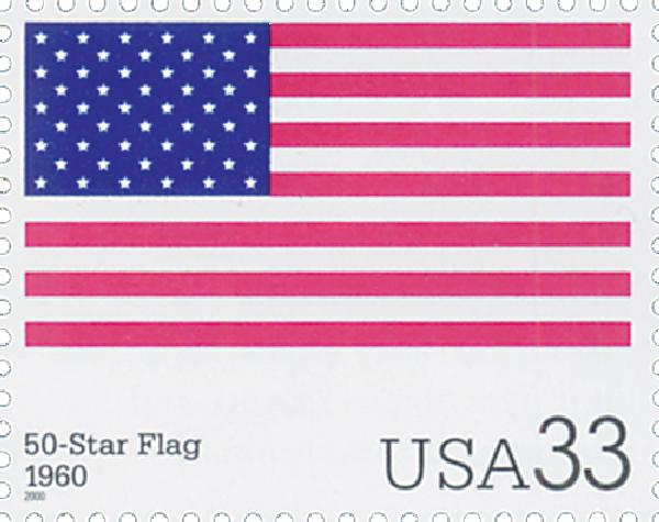 2000 33c The Stars and Stripes: 50-Star Flag