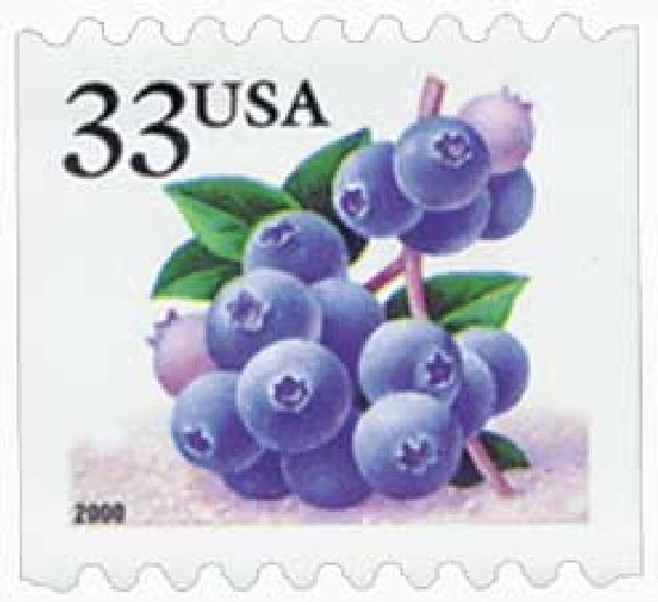 2000 33c Blueberries, coil