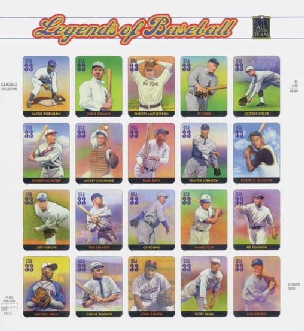 2000 33c Legends of Baseball