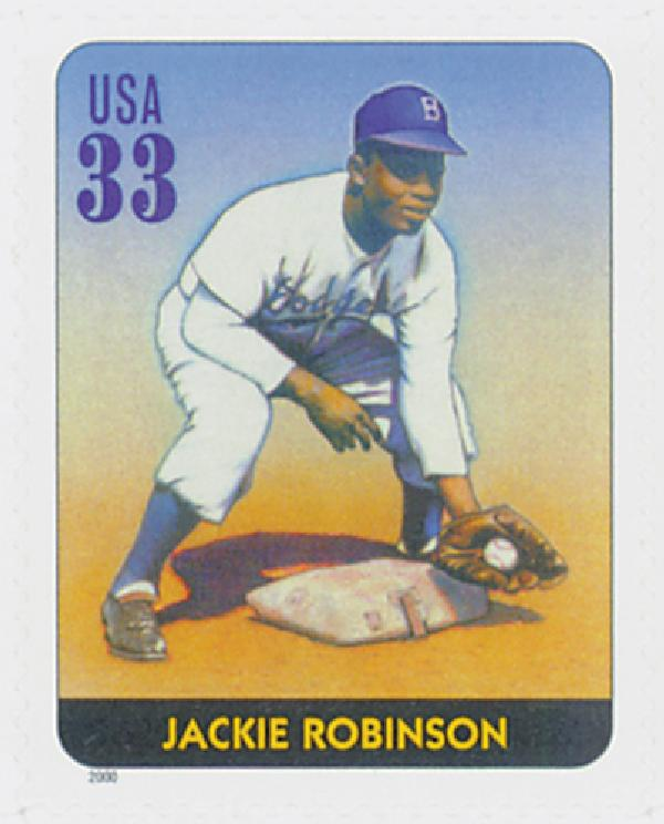2000 33c Legends of Baseball: Jackie Robinson
