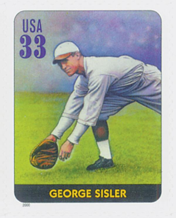 2000 33c Legends of Baseball: George Sisler