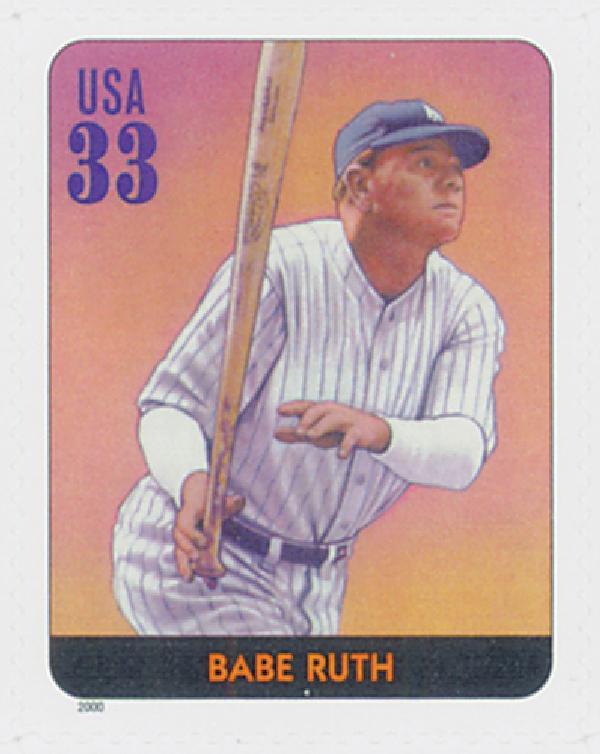 2000 33c Babe Ruth, s/a