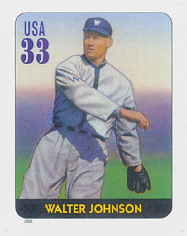2000 33c Legends of Baseball: Walter Johnson