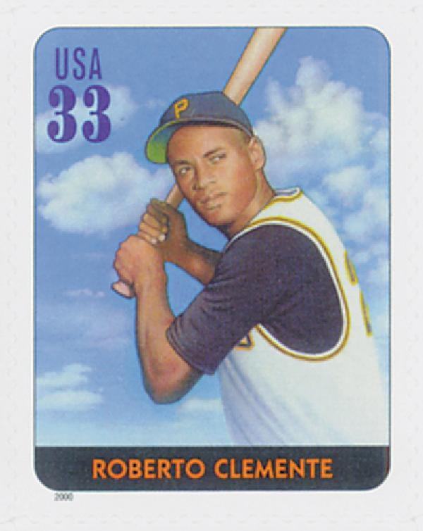 2000 33c Legends of Baseball: Roberto Clemente