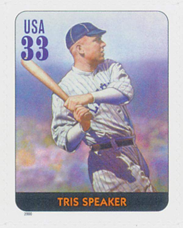 2000 33c Legends of Baseball: Tris Speaker