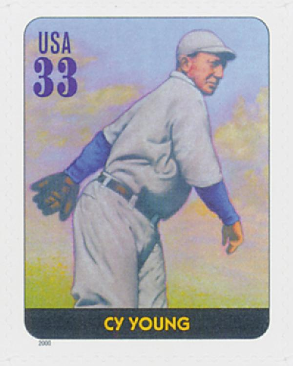 2000 33c Legends of Baseball: Cy Young