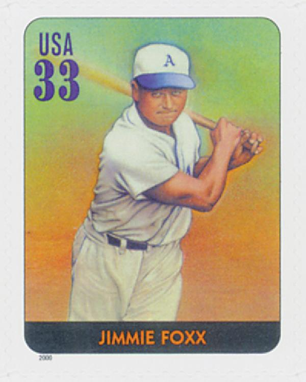 2000 33c Legends of Baseball: Jimmie Foxx