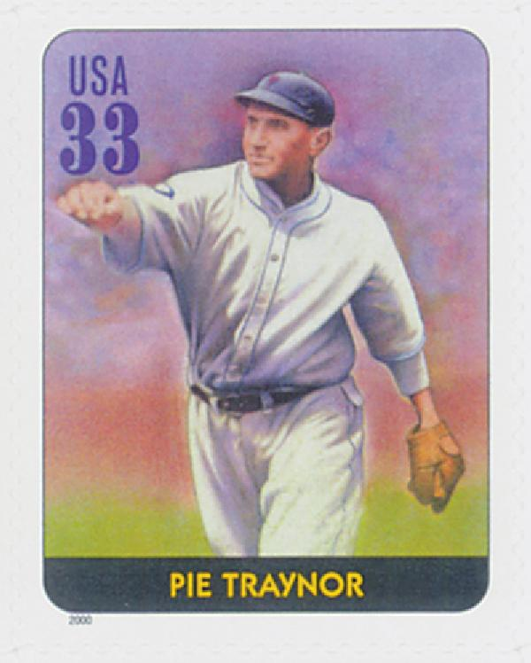 2000 33c Legends of Baseball: Pie Traynor