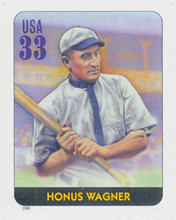 2000 33c Legends of Baseball: Honus Wagner