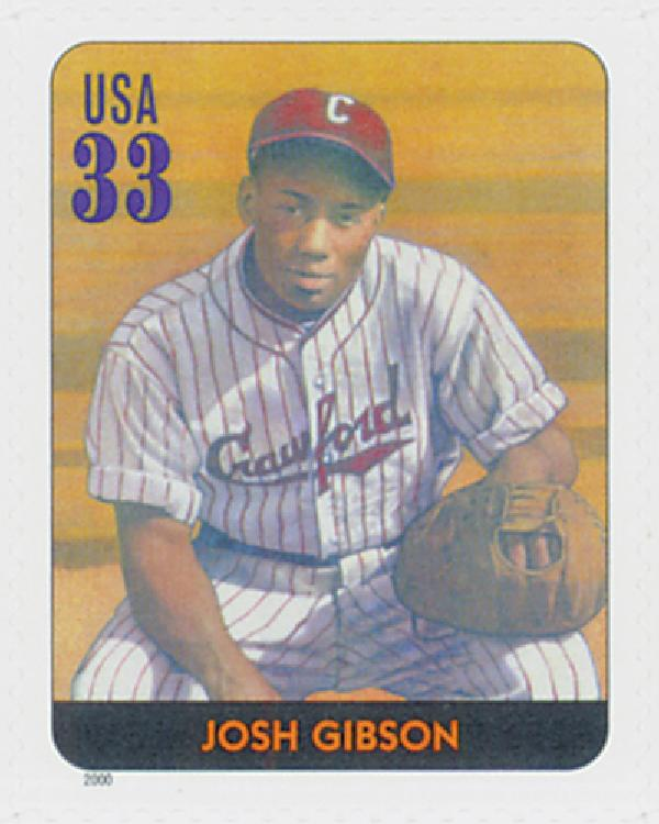2000 33c Legends of Baseball: Josh Gibson