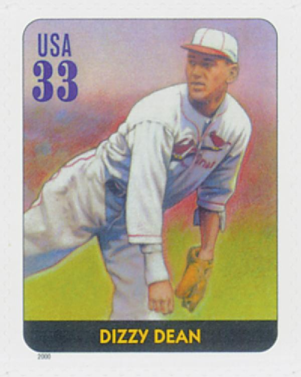 2000 33c Legends of Baseball: Dizzy Dean