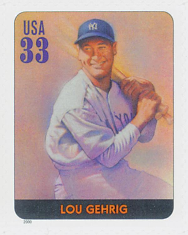 2000 33c Legends of Baseball: Lou Gehrig