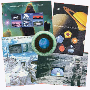 2000 Space, collection of 5 souvenir sheets