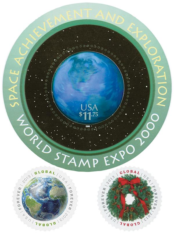 2000-13 U.S. Circular Stamps, collection of 3