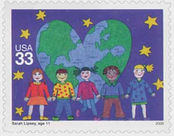 2000 33c Stampin the Future: Sarah Lipsey
