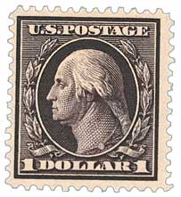 1909 $1 Washington, violet brown