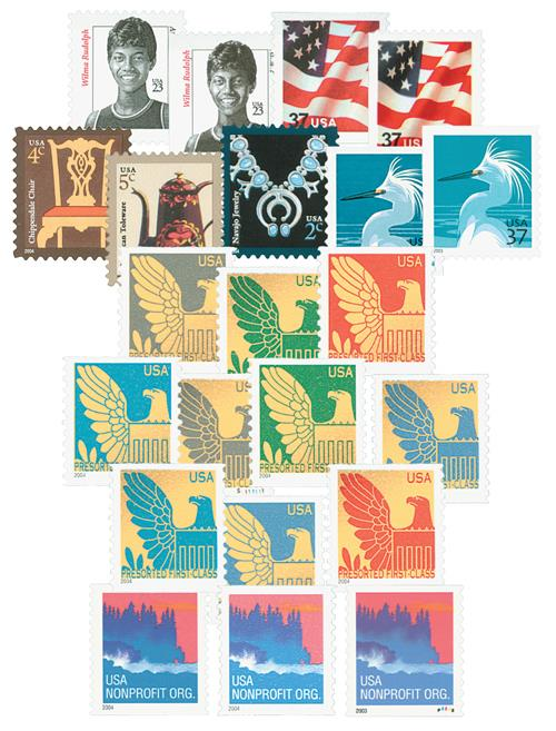 2004 Definitives, set of 22 stamps