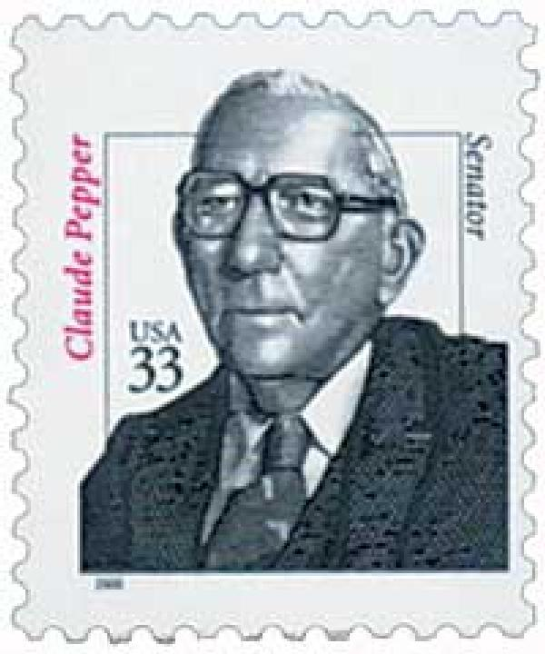 2000 33c Distinguished Americans: Claude Pepper