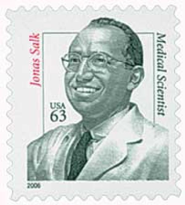 2006 63c Distinguished Americans: Dr. Jonas Salk