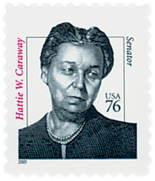 2001 76c Hattie Caraway, Die cut 11
