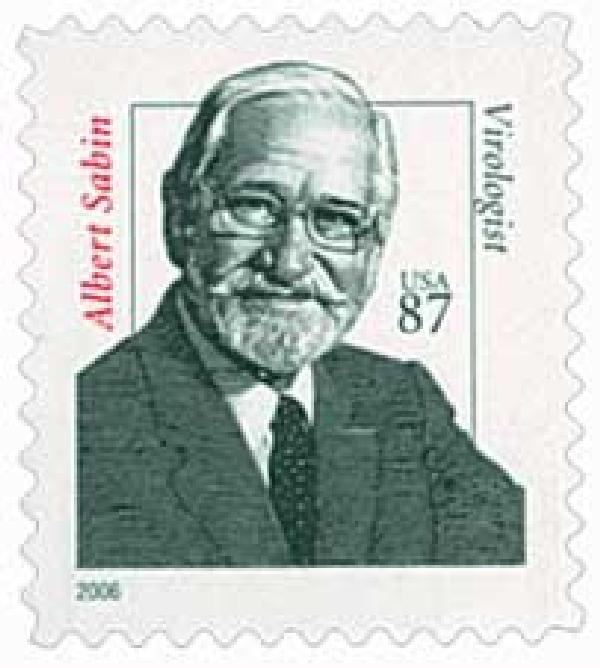 2006 87c Distinguished Americans: Dr. Albert Sabin