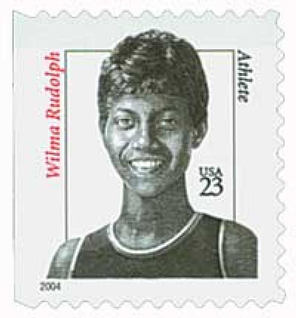 2004 23c Distinguished Americans: Wilma Rudolph, booklet single