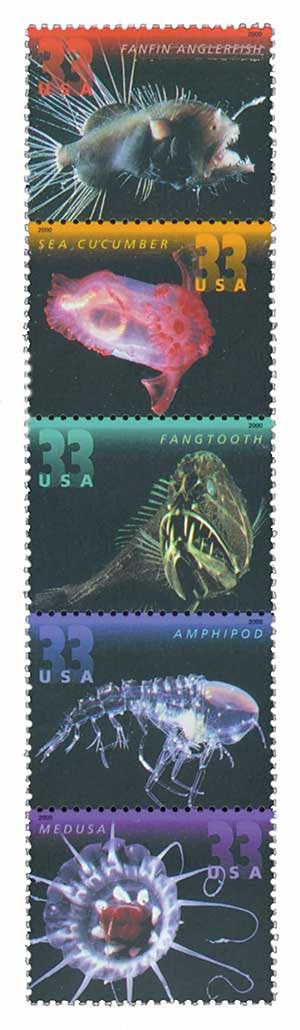 2000 33c Deep Sea Creatures