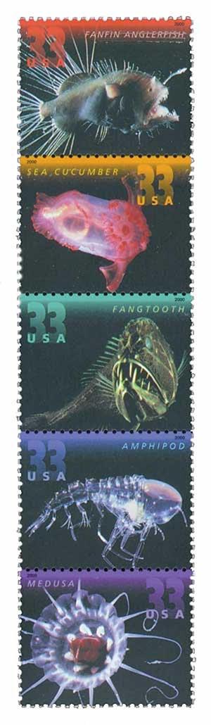 2000 33c Deep Sea Creatures