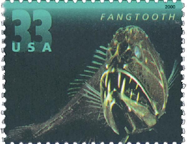 2000 33c Deep Sea Creatures: Fangtooth