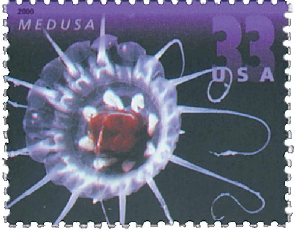 2000 33c Deep Sea Creatures: Medusa