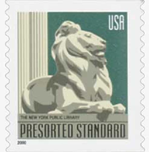 2000 10c Lion Statue, non-denominational, coil