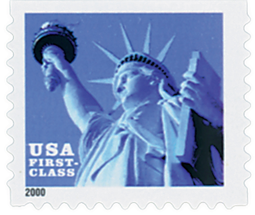 2000 34c Statue of Liberty, non-denominational, booklet single