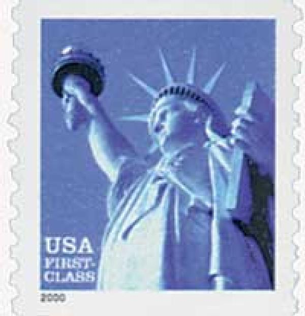 2000 34c Statue of Liberty, 9.75 perf, coil