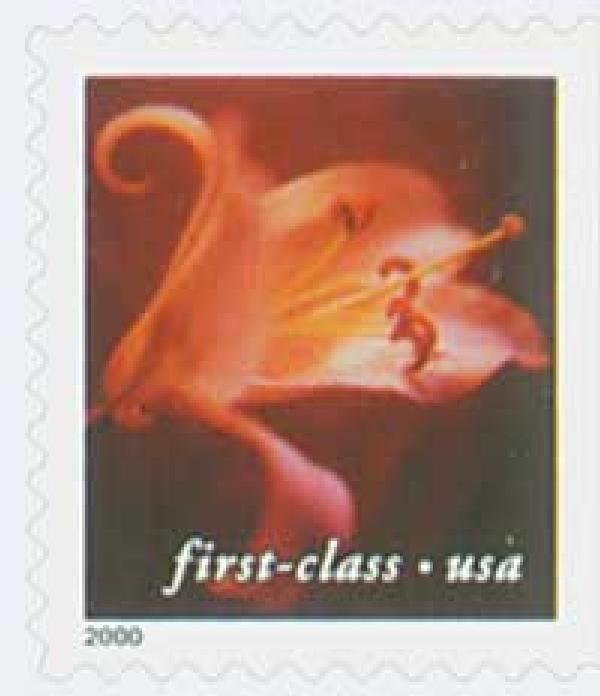 2000 34c Lilies: Asian Hybrid, 10.5 x 10.75 perf, booklet single