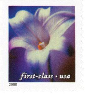 2000 34c Lilies: Longifloruim, 11.5 x 11.75 perf, booklet single