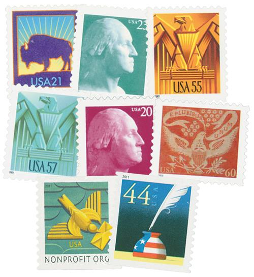 2001-11 Symbols of America, collection of 16 stamps