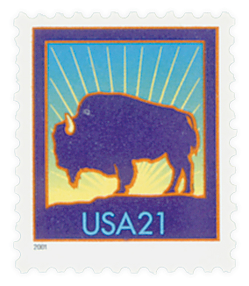 2001 21c Bison, small 2001