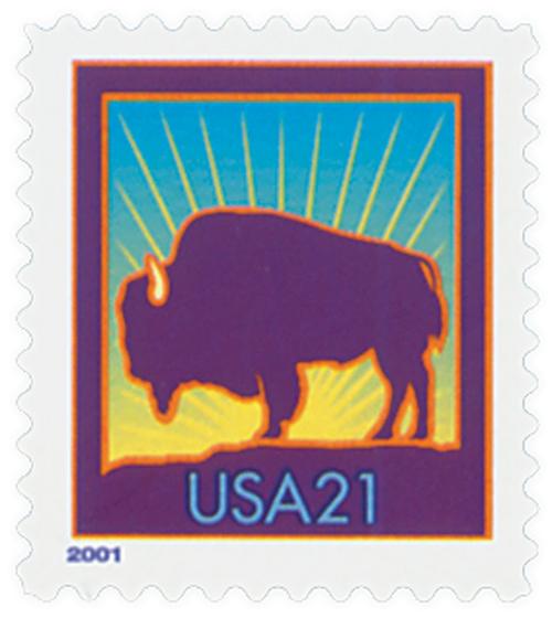 2001 21c Bison, large 2001