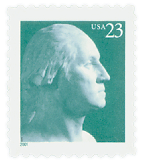 2001 23c George Washington, self-adhesive