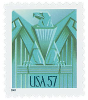 2001 57c Art Deco Eagle
