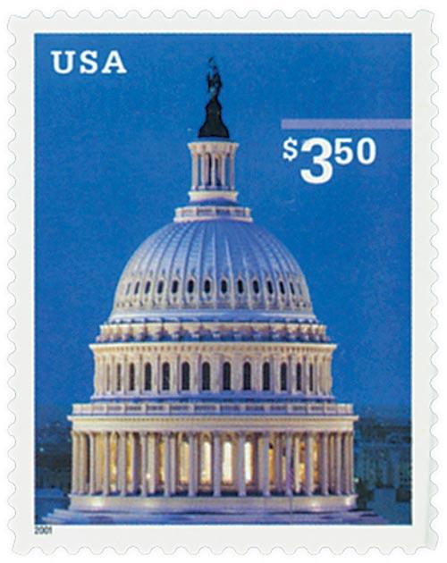 2001 $3.50 US Capitol