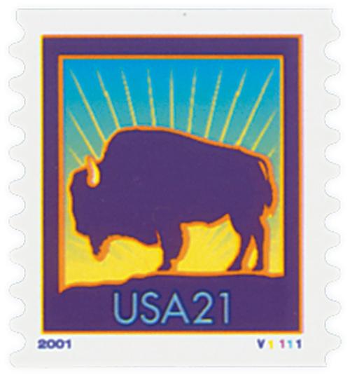2001 21c Bison, coil