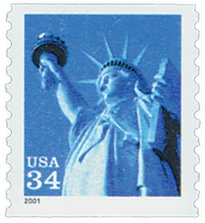 2001 34c Statue of Liberty, coil