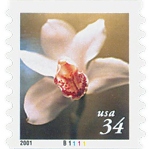 2000 34c Lilies: Cymbidium Orchid, coil