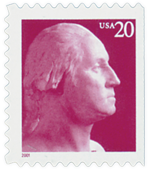 2001 20c George Washington, convertable booklet single